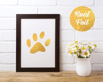 Gold Foil Print - Dog Paw