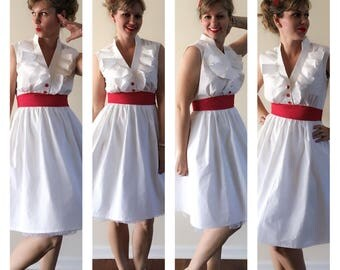 Mary Poppins Jolly Holiday Inspired Flounce Front Dress