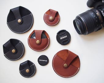 Leather Camera Lens Cap Holder, Lens Cap Holder