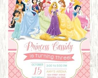 Princess Invitations Etsy - Birthday invitation princess