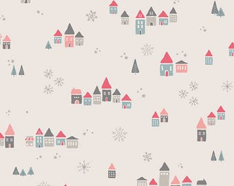 One Yard Cut - Snowdrift in Joy - Little Town by Amy Sinibaldi for Art Gallery Fabrics -  Quilters Cotton