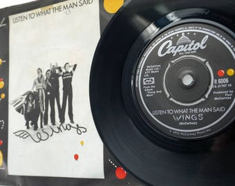 """Paul McCartney & Wings - 'Listen To What The Man Said' 7"""" Record"""