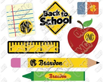 Back to School SVG svg dxf eps jpeg format layered cutting files download clipart screen print die cut decal vinyl cutter cricut silhouette