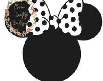 Minnie Dotted Bow SVG