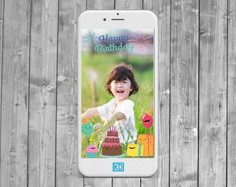 Happy Smiles Birthday Party  Snapchat Geofilter