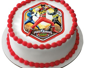 Power Rangers Dino Charge Prehistoric Edible Cake Topper