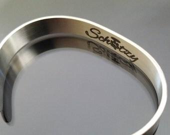 Custom Stainless Steel Cuff - Hypoallergenic - Bracelet