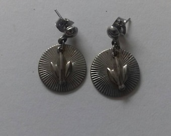 Pair of silver stud earings.