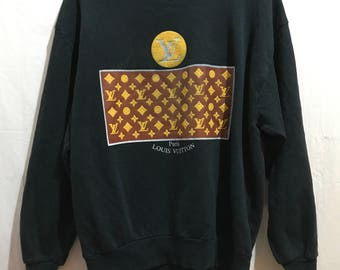 Vintage/Logo LV Louis Vuitton SWEATSHIRT/Black Vetements FOG Gosha Alessandro Rare