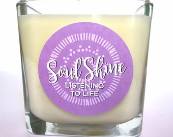 Lavender Meditation Candle, Patchouli Soy Candle, Floral Scented Candle, Reiki Charged Mantra Candle, Created on a New Moon