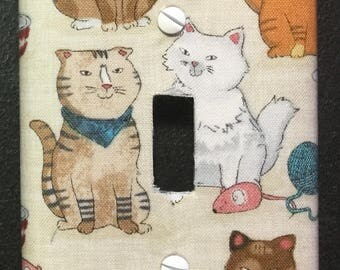 Switch Cover-Multi-Cat with Mice, Yarn & Food Bowls