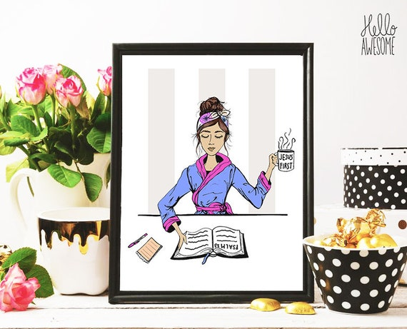 But First Modest Fashion Illustration 8x10 Print