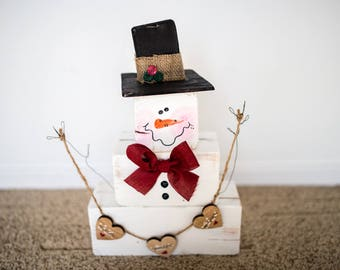 Warm Wishes Stacked Snowman