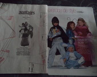 several costumes pattern child size 4-6-8 years new uncut