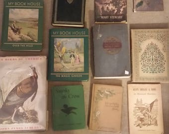 Lot of 11 vintage books 1906 to 1960's