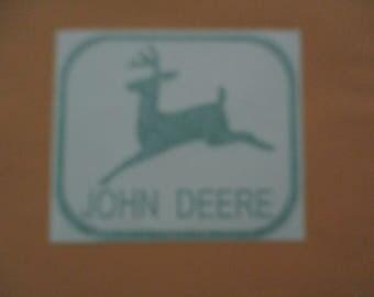 JOHN DEERE - Vinyl Sticker in Green
