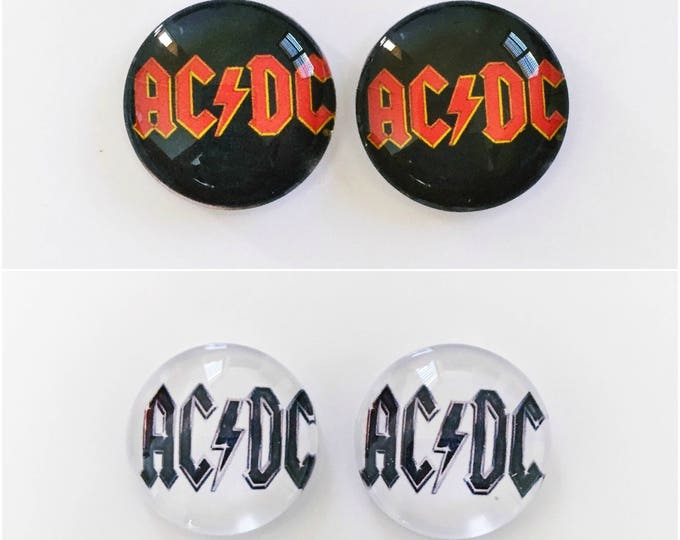 The 'ACDC' Glass Earring Studs
