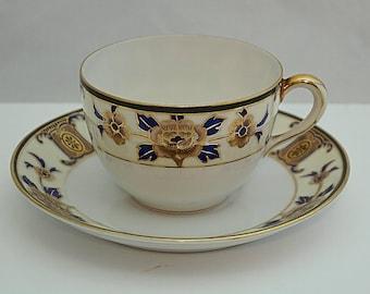 KOKURA NORITAKE EGGSHELL C1900 Porcelain Cup and Saucer Japanese Taisho period
