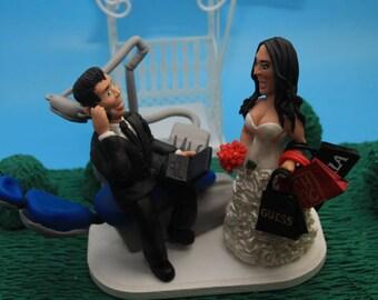Dentist Wedding Cake Topper, Dentistry cake topper, Dental cake topper, Dental Unit cake topper, Stoma cake toppers,Stomatology cake topper