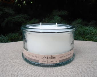 Cedar candle 2 strands to flavor extracts, recycled glass
