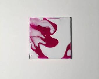 Pink and White Swirl