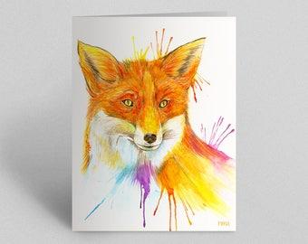 Fox Greetings Card