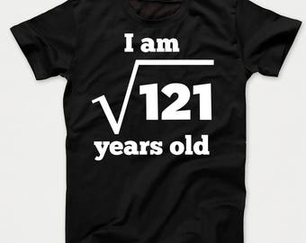 Square Root of 121 11 Years Old Funny 11th Birthday Kids T-Shirt