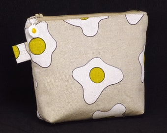 Fried Egg Fabric Cosmetic Bag