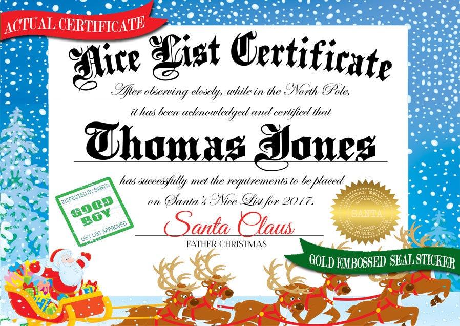 Santa sleigh christmas package from santa claus letter from santa santa sleigh christmas package from santa claus letter from santa nice list certificate spiritdancerdesigns Choice Image