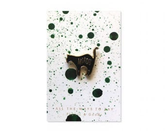 Cat Black Pins
