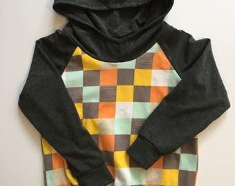 Toddler hoodie/ kids hoodie/ trendy/ comfortable/ plaid