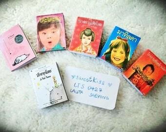 Doll's books : Kids novel set 6 pieces for dolls