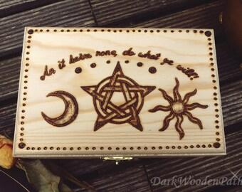 Tarot box ~ Wicca ~.