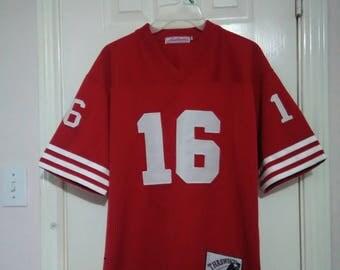 San Francisco 49ers Joe Montana throwback gridiron Jersey sz small adult