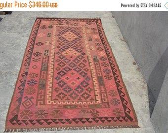 SALE 45% OFF Handmade Afghan Tribal Maimana wool kilim rug