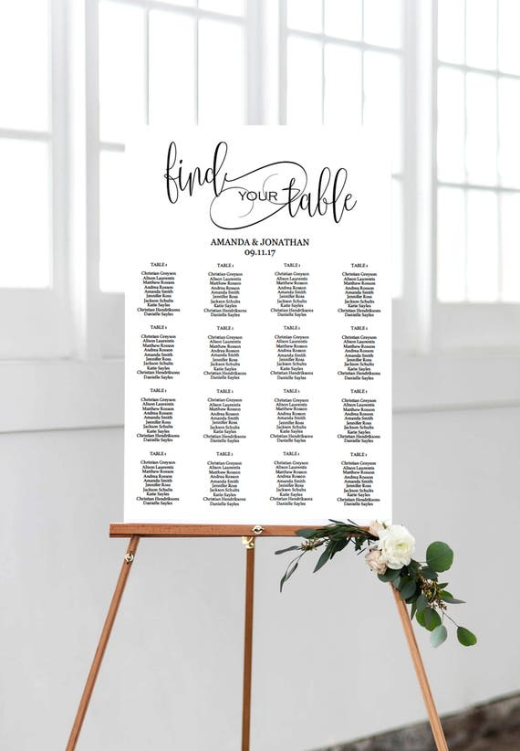 Seating Chart Wedding Template