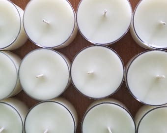 Set Of 100 Unscented Soy Tea Light Candles