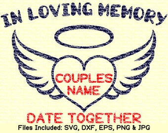 In loving memory svg files for Cricut Silhouette name infant lost wedding memorial svg design car vinyl sign decal tank clipart dxf cut file