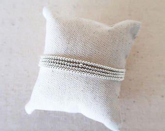 Sterling Silver Stretch Bracelets