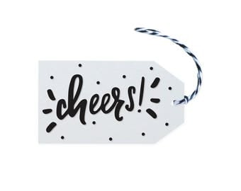 Cheers - 10 Letterpress Printed Gift Tags
