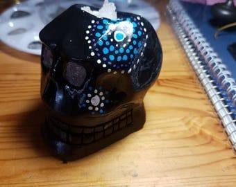 Crystal Filled Skull