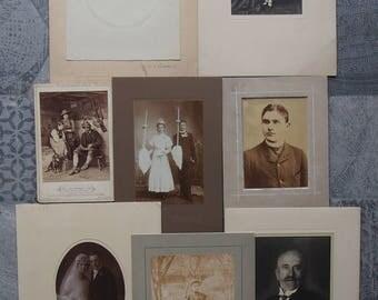 8 Vintage Portrait Photgraphs - 1910's