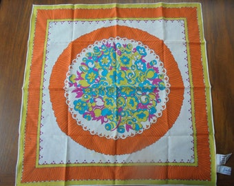 Vintage Italian Cotton Handkerchief
