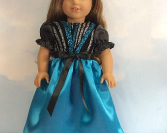 "Glittering party dress for 18"" doll"