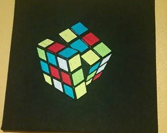 Rubiks Cube embroidered frames