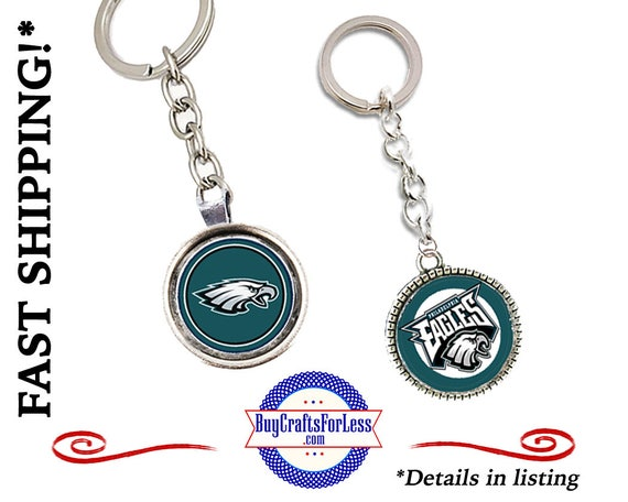 PHILADELPHIA Football KEY RiNG, CHooSE Size & Design - Super CUTE!  +FReE SHiPPiNG/ Discounts*