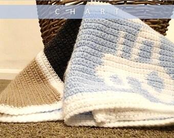 Crochet Tractor Chart/Crochet Graph/Kknitting Chart/Cross Stitch Chart/Crochet Tractor/Knitted Tractor