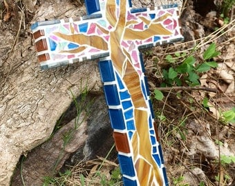 "Mosaic Cross #32 - ""Cerise"""