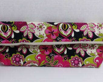 Brightly colored clutch
