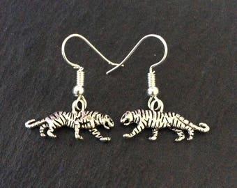 Tiger Earrings / Tiger Jewellery / Cat jewellery / animal earrings / animal jewellery / animal lover gift